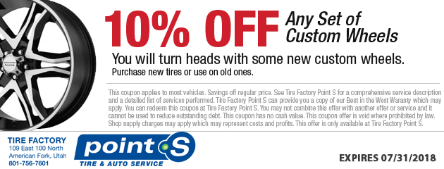 10% Off Custom Wheels