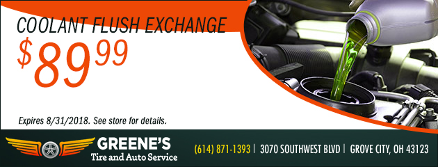 $89.99 Coolant Flush Exchange