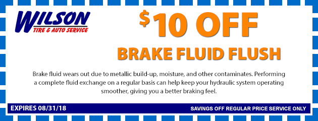 $10 OFF Brake Fluid System Flush