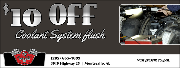$10 off Coolant System Flush