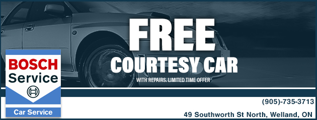 FREE Courtesy Car While Your Car is Being Repaired