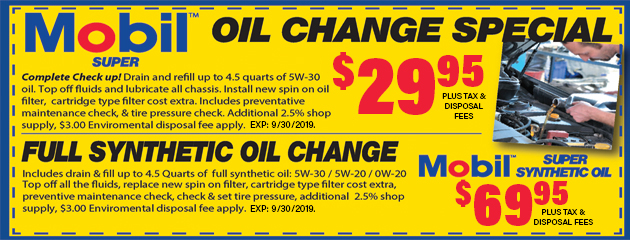 Mobil Super Oil Change Special