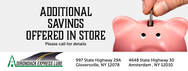 Additional savings offered in store.  Please call for details.