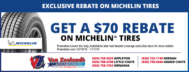 Exclusive $70 rebate on Michelin Tires