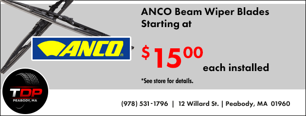 ANCO Beam Wiper Blades Starting at $15 each