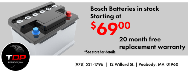 Bosch Batteries Starting at $69