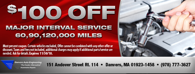 $100 Off Major Interval Service