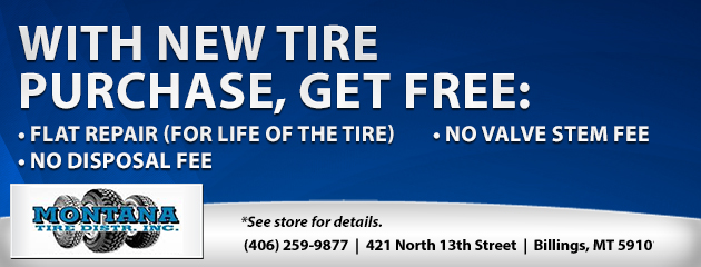 Free with purchase of a New Tire