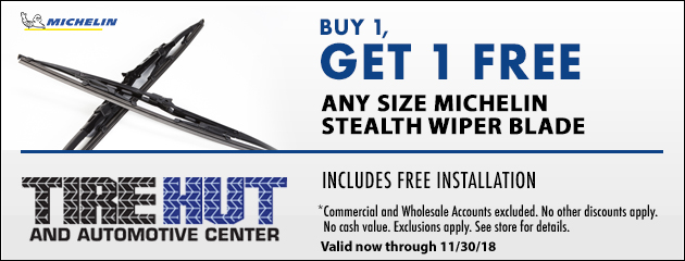 Buy 1, Get 1 FREE Any Size Michelin Stealth Wiper Blade