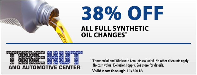 38% Off All Full Synthetic Oil Changes