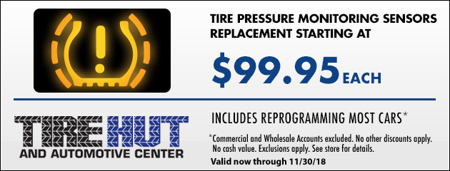 TPMS Replacement starting at $99.95 each