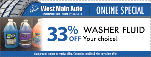 Washer Fluid 33% off
