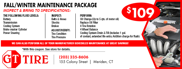 Seasonal Maintenance Package $109