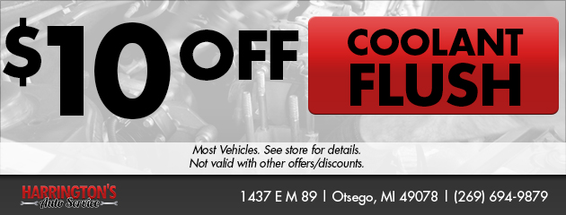 $10 off a Coolant Flush