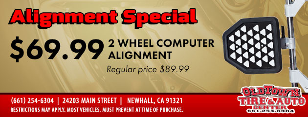 2-Wheel Alignment Special