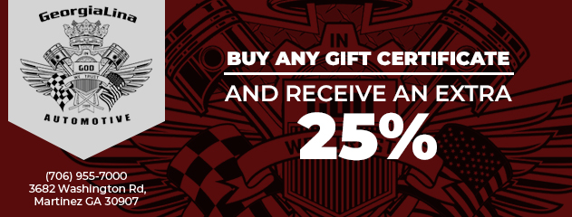 Buy Any Gift Certificate and Receive an Extra 25%