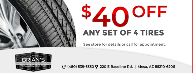 $40 off any set of 4 tires