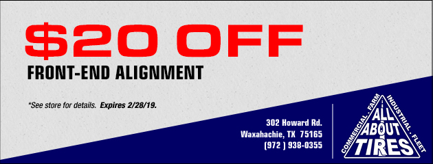 $20 Off Front-End Alignment