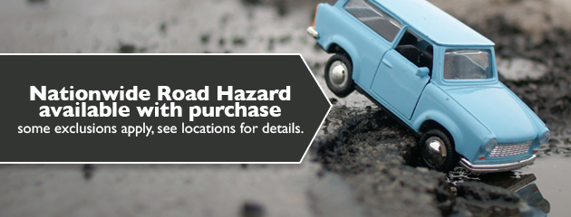 Nationwide Road Hazard available with purchase