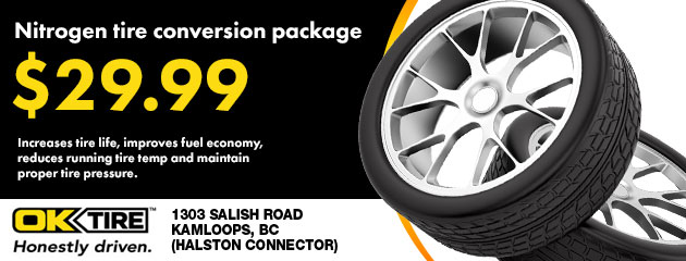 Nitrogen tire conversion package $29.99
