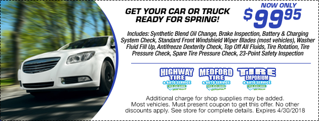$99.95 Spring Car Care Package