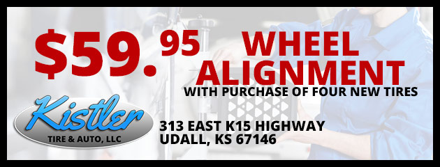 $59.95 Wheel Alignment with purchase of four new tires