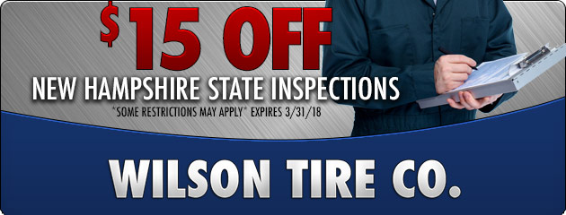$15 off New Hampshire State Inspection