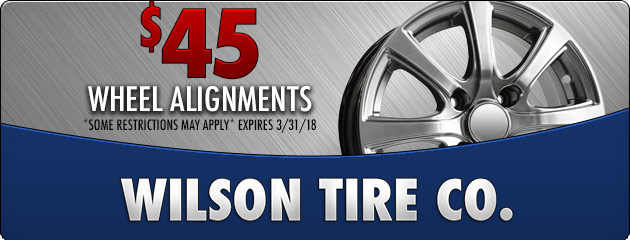 $45 Wheel Alignment