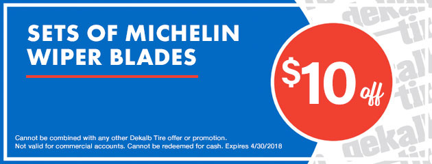 $10 Off Sets of Michelin Wiper Blades