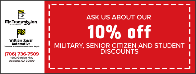 !0% Military, Senior Citizen and Student Discounts