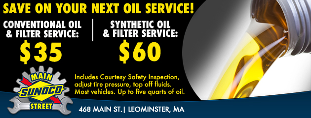 Save on your next oil service!