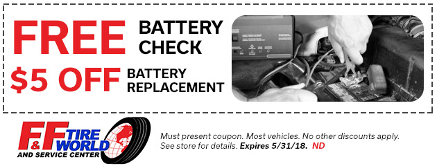 Free Battery Check | $5 Off Replacement
