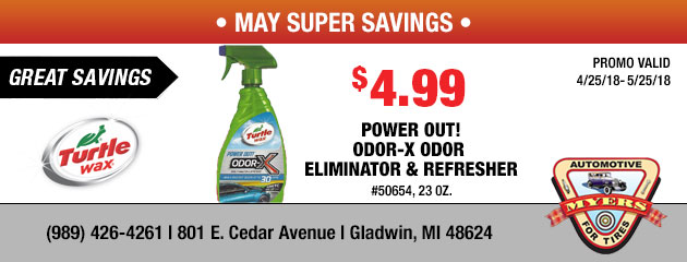 $4.99 Power Out! ODOR-X Odor Eliminator & Refresher