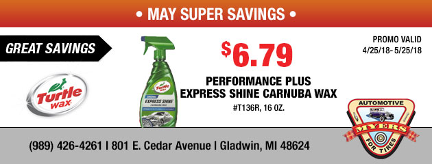 $6.79 Performance Plus Express Shine Carnuba Wax