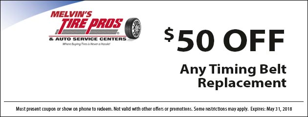 $50 Off Timing Belt Replacement