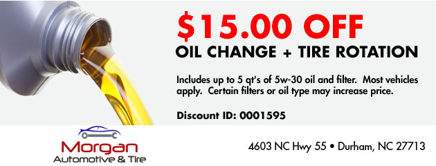 $15.00 off Oil Change + Tire Rotation
