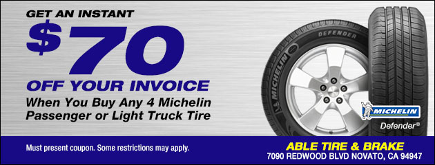 Instant in-store $70 reabate all Michelins
