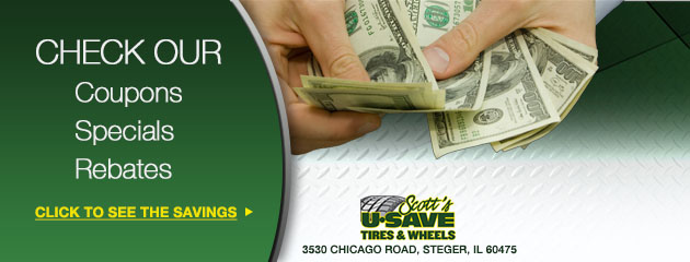 Scotts U Save Tire and Wheels Savings