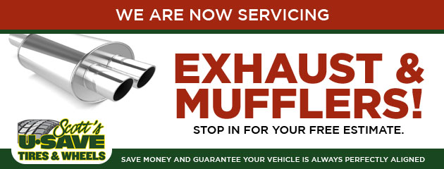 We are now servicing exhaust & mufflers!