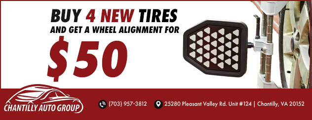 Buy 4 New Tires and Get an Alignment for $50