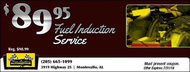 $89.95 Fuel Induction Service