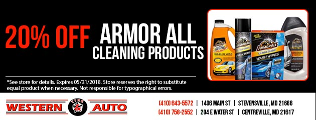 20% off Armor All Cleaning products