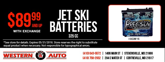 Jet Ski Batteries- $89.99 and up