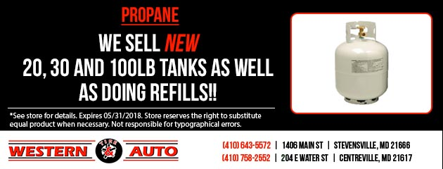 We sell new 20,30 and 100 lb Propane tanks!
