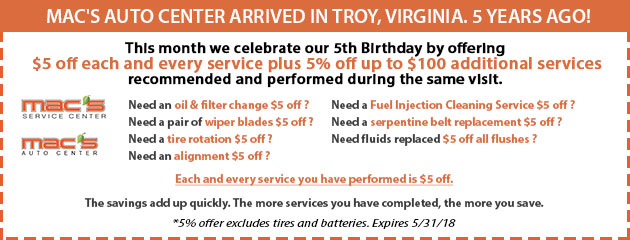 $5 off Every Service Birthday Special