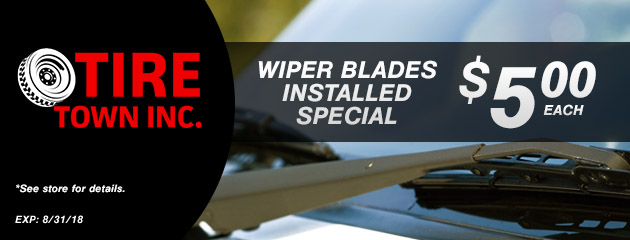 Wiper Blades Installed Special - $5.00 Each