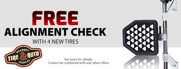 Free Alignment Check with 4 New Tires