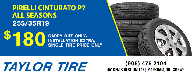 $180 Pirelli Cinturato P7 All Seasons