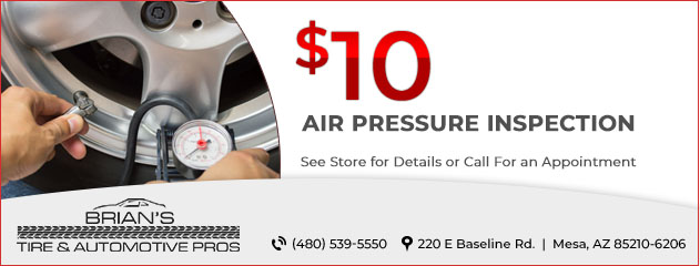 $10 Air Pressure Inspection
