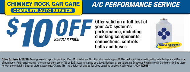 $10 off AC Performance Service